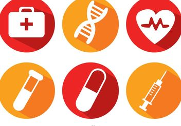 Medical Long Shadow Icons Vector - Free vector #150177
