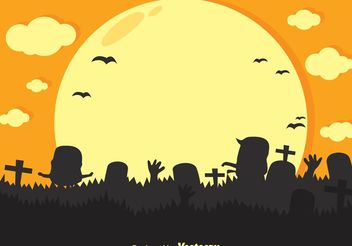 Vector Zombie Cartoon Silhouette - Kostenloses vector #150217