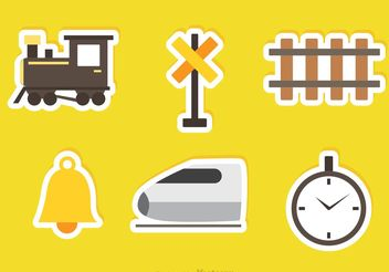 Railway Vector Sticker Icons - бесплатный vector #150257