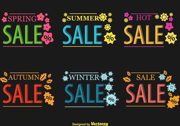 Seasonal Hot Sale Vector Signs - бесплатный vector #150287
