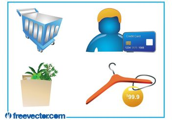 Shopping Graphics Set - Free vector #150297