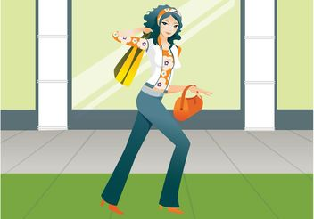 Shopping Girl Graphics - vector gratuit #150307