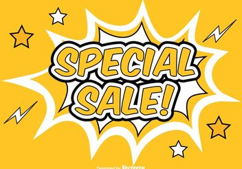 Comic Style Promotional Sale Background - Free vector #150327
