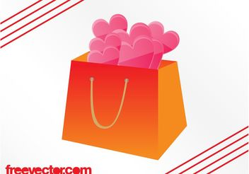 Hearts In Bag - Free vector #150377