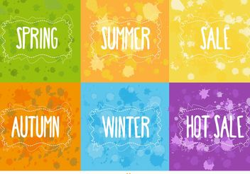 Seasonal and Hot Sale Vector Backgrounds - бесплатный vector #150437