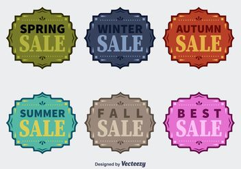 Four Seasons Vector Sale Badges - Free vector #150457
