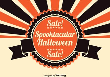 Halloween Sale Illustration - vector gratuit #150477