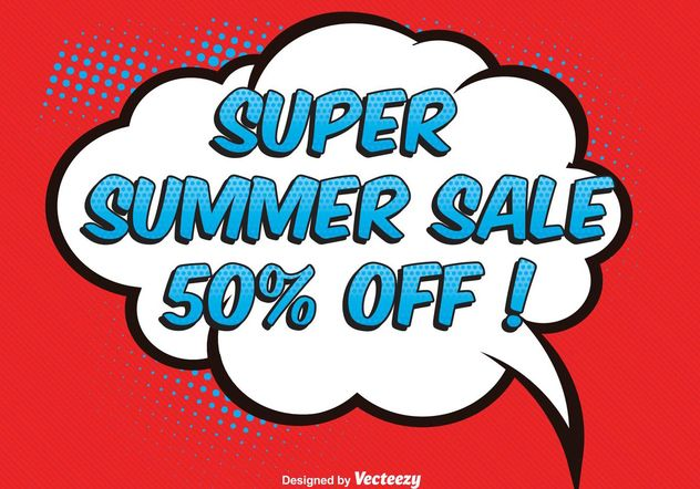 Comic Style Sale Illustration - Free vector #150507