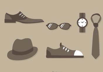 Man Fashion Icon Vectors - Free vector #150547