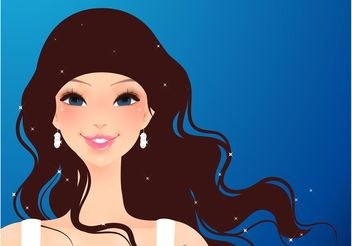 Beautiful Fashion Girl - бесплатный vector #150557