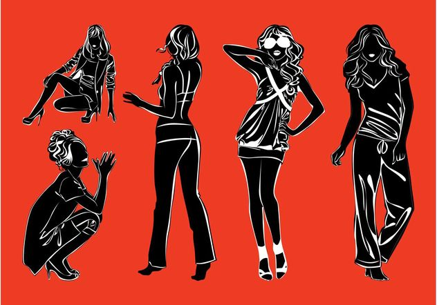 Fashion Models Silhouettes Pack - Free vector #150567
