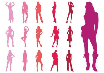 Fashion Models Silhouettes Collection - vector #150577 gratis
