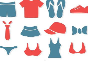 Simple Clothes Vectors Pack - Free vector #150627