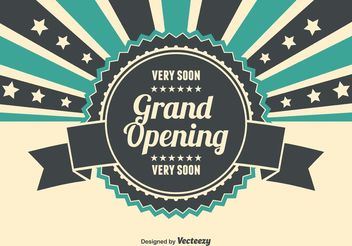 Grand Opening Illustration - бесплатный vector #150667