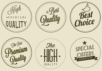 Free Vector Premium Quality Labels - vector gratuit #150677