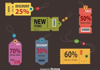 Retro Discount Coupon Tags - vector #150687 gratis