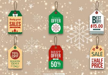 Christmas Promo Tags - vector gratuit #150727