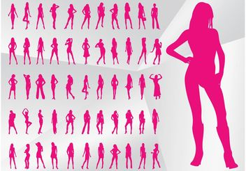 Sexy Model Silhouettes - vector gratuit #150737