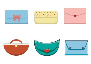 Free Female Handbag Set - Free vector #150777