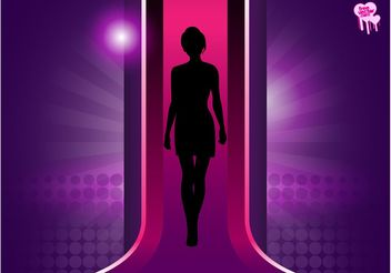 Catwalk Silhouette - Free vector #150827