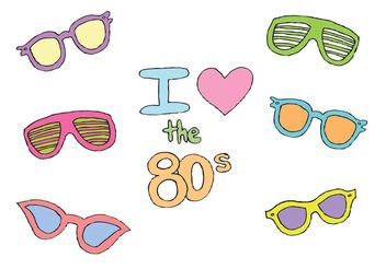 Free 80s Sunglasses Vector Series - бесплатный vector #150847