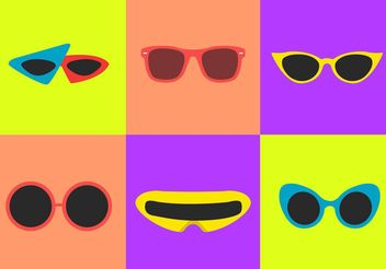 80's Sunglasses Vectors - бесплатный vector #150857