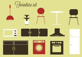 Free vector furniture and home accessories - Kostenloses vector #150917