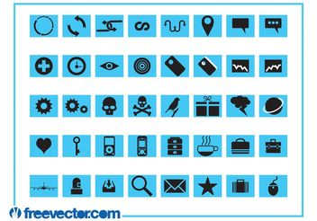 Icons Set Graphics - Free vector #150997