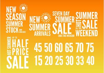 Summer Sales Graphics - Kostenloses vector #151047