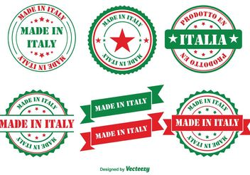 Made in Italy Badges - Free vector #151057