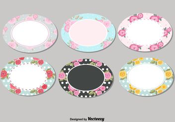 Shabby Chic Labels Set - vector gratuit #151067