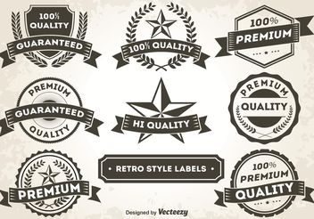 Retro Style Promotional Labels / Badges - vector gratuit #151087