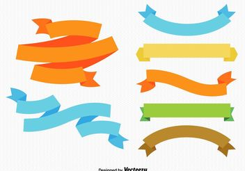 Colourful Ribbons and Labels - Free vector #151097