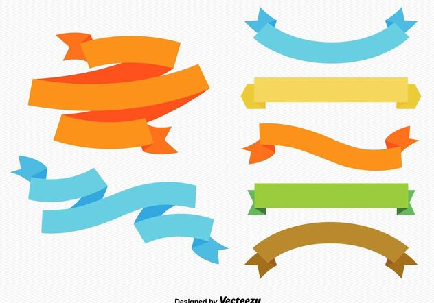 Colourful Ribbons and Labels - vector gratuit #151097