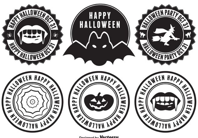 Halloween Badges - Free vector #151127
