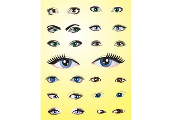 Eyes Pack - vector gratuit #151237