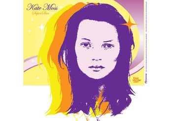 Kate Moss Vector - Free vector #151337