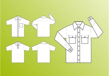 Shirt Templates Vector - бесплатный vector #151357