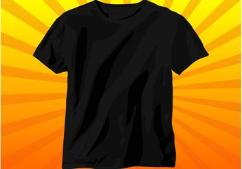 Black T-Shirt - vector gratuit #151367