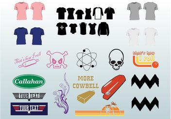 Clothing Design Pack - Free vector #151387