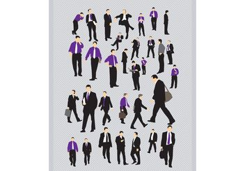 Business People Pack - vector gratuit #151427
