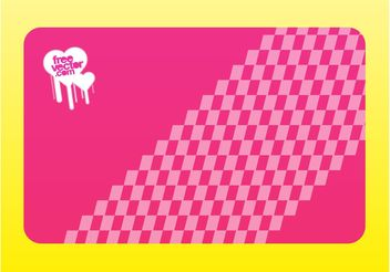 Pink Business Card Vector - бесплатный vector #151437