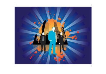 Urban Business People Vector - Free vector #151487