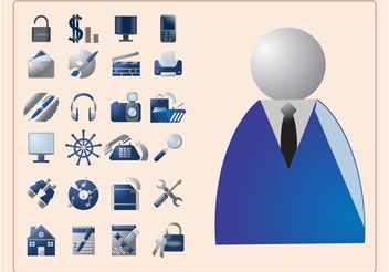Business Icons - vector #151507 gratis