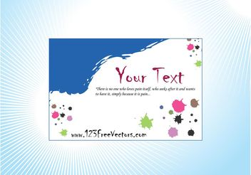Artistic Business Card - vector #151527 gratis