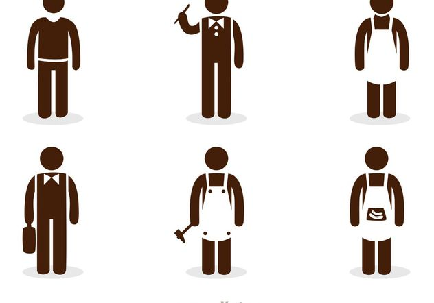 Work Stick Figure Icons Vector Pack - vector gratuit #151587