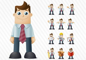 Happy Businessman Vector - бесплатный vector #151617