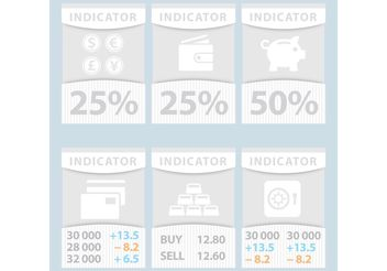 Financial Vector Indicator Banners - vector gratuit #151777