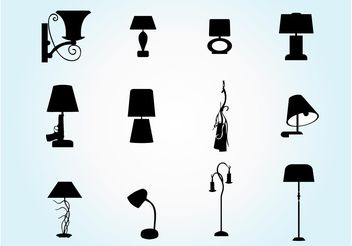 Lamp Silhouette Pack - Free vector #151797