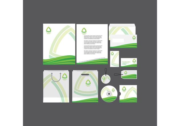 Green Company Profile Template - Free vector #151837